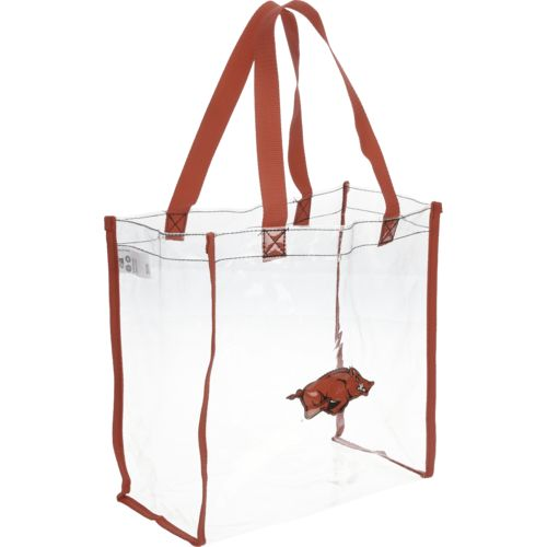 Display product reviews for Forever Collectibles™ University of Arkansas Clear Reusable Bag