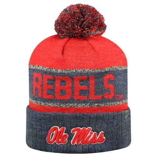 Top of the World Men's University of Mississippi Below Zero Cuffed Knit Cap