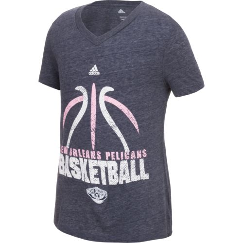 adidas™ Girls' New Orleans Pelicans Flamingo T-shirt