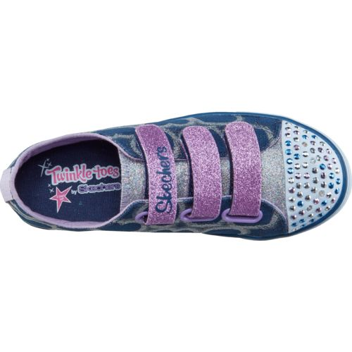 SKECHERS Girls' Twinkle Toes Shuffles Glitter Heart Shoes - view number 4