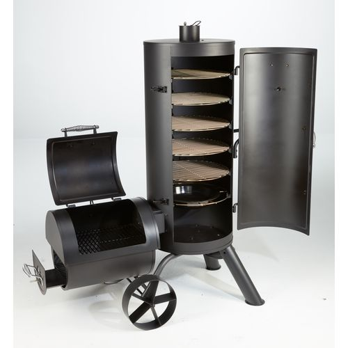 outdoor gourmet triton vertical charcoal smoker academy. Black Bedroom Furniture Sets. Home Design Ideas