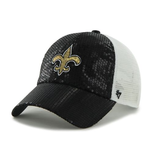'47 Women's New Orleans Saints Dazzle Mesh Clean Up Cap