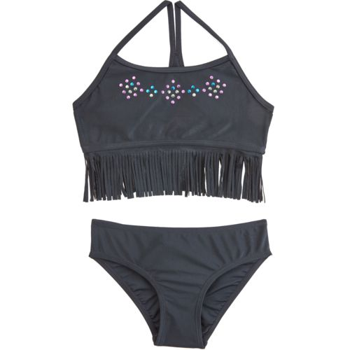 O'Rageous Kids Girls' Fringe Fervor 2-Piece Bikini Swimsuit