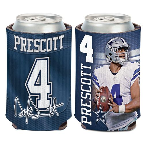 WinCraft Dallas Cowboys Dak Prescott 12 oz. Can Cooler