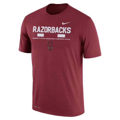 Nike Men's University of Arkansas Dri-FIT Legend Staff T-shirt