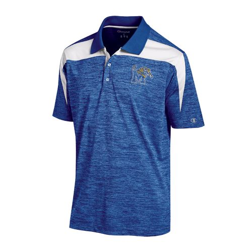 Champion™ Men's University of Memphis Synthetic Colorblock Polo Shirt