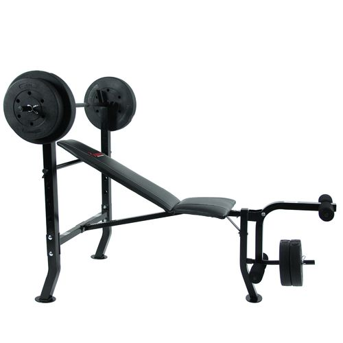 Sunny Health & Fitness 100 lbs Weight/Bench Set - view number 2