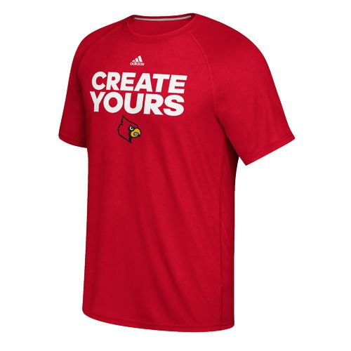 adidas Men's University of Louisville Create Yours Basketball T-shirt