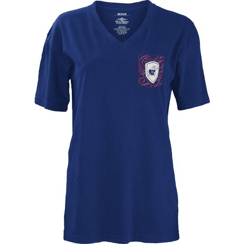 Three Squared Juniors' University of Kansas Anchor Flourish V-neck T-shirt - view number 2