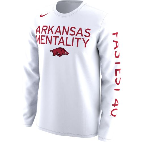 Nike Men's University of Arkansas Basketball Legend Mentality Bench T-shirt