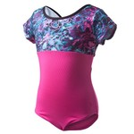 Capezio Girls' Future Star Printed Dreamy Petals Short Sleeve Leotard - view number 1