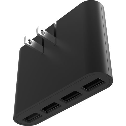 iHome AC Pro 4-Port 5.4 amp USB Slim Wall Charger