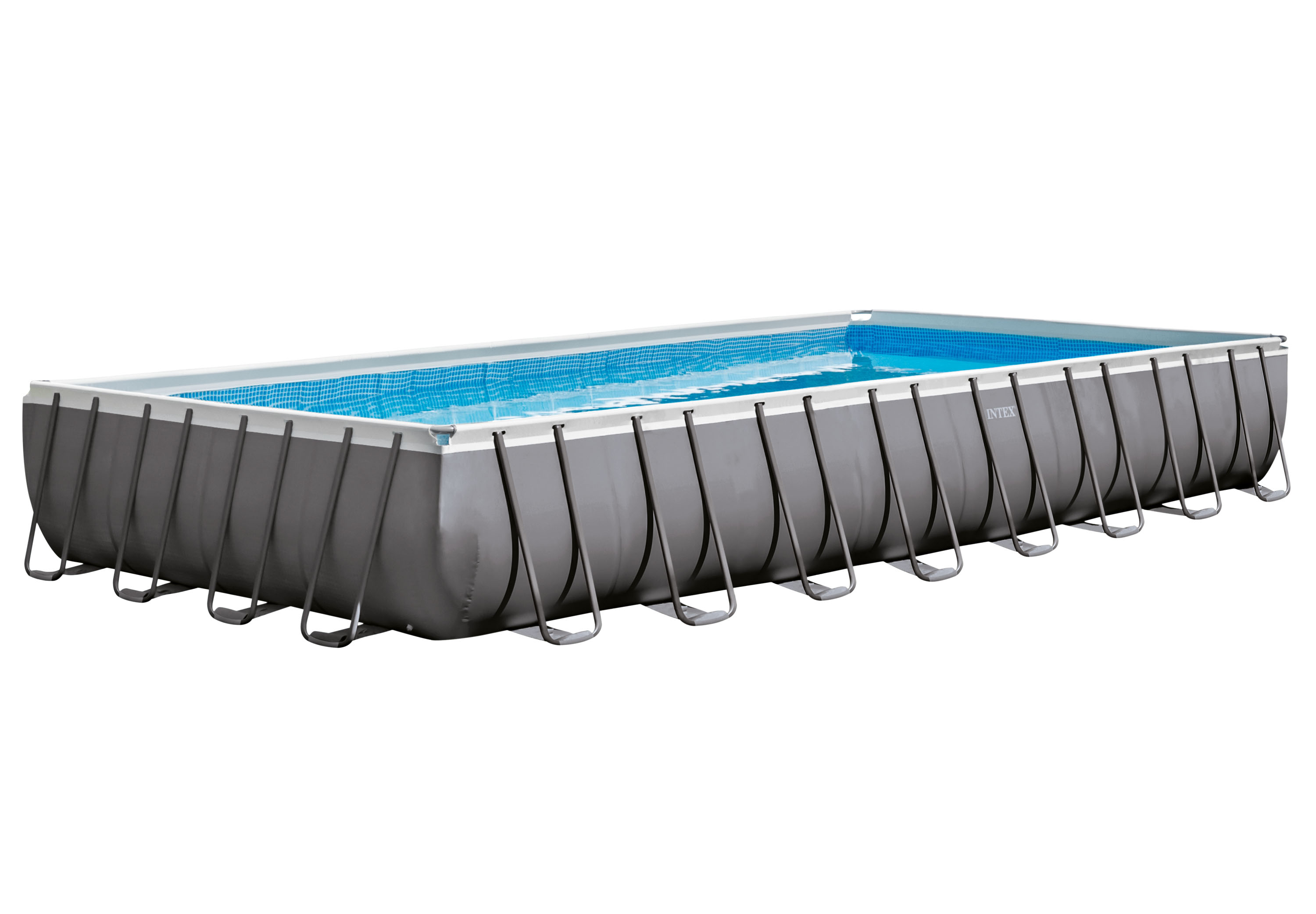 INTEX 32 ft x 16 ft x 52 in Ultra Frame Rectangular Pool Set with 2,800 Gal Sand Filter Pump