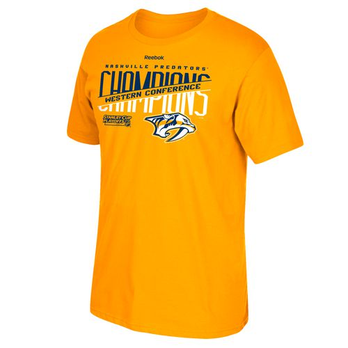 Reebok Men's Nashville Predators 2017 NHL Western Conference Champs Split Roster T-shirt