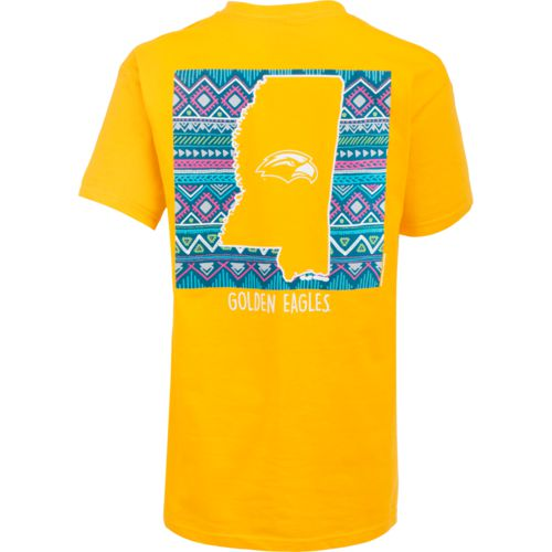 New World Graphics Women's University of Southern Mississippi Terrain State T-shirt - view number 1