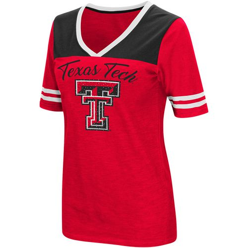 Colosseum Athletics Women's Texas Tech University Twist 2.1 V-Neck T-shirt