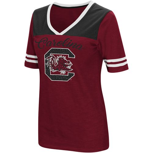 Colosseum Athletics Women's University of South Carolina Twist 2.1 V-Neck T-shirt