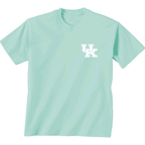 New World Graphics Women's University of Kentucky Comfort Color Circle Flowers T-shirt - view number 2