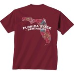 New World Graphics Women's Florida State University Comfort Color Puff Arch T-shirt - view number 1