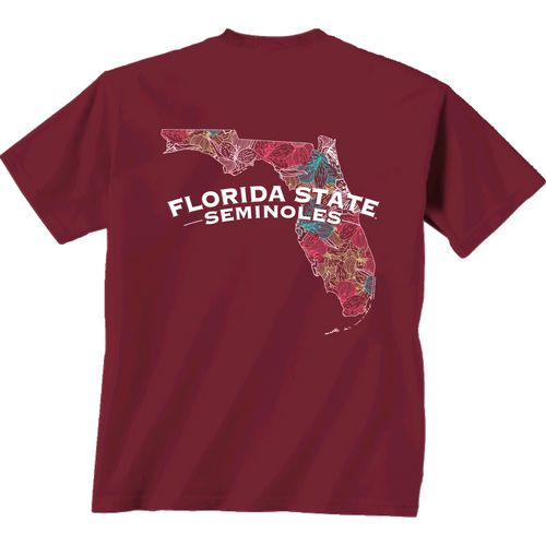 New World Graphics Women's Florida State University Comfort Color Puff Arch T-shirt