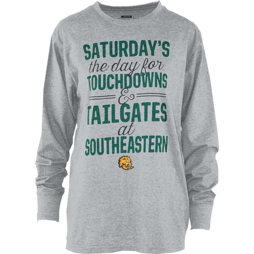 Three Squared Juniors' Southeastern Louisiana University Touchdowns and Tailgates T-shirt