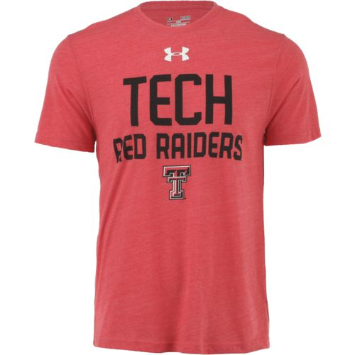 Under Armour Men's Texas Tech University Wordmark Triblend T-shirt