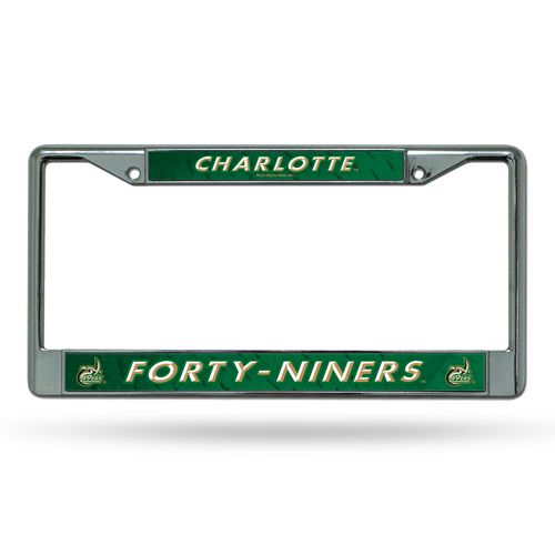 Rico University of North Carolina at Charlotte Chrome License Plate Frame