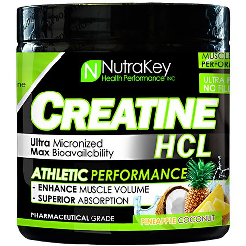 NutraKey Creatine HCL Pineapple Coconut Sports Supplement