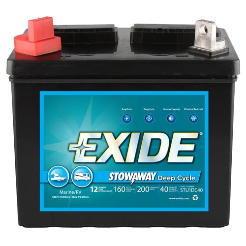 Image for Exide Stowaway Deep-Cycle Utility Battery from Academy