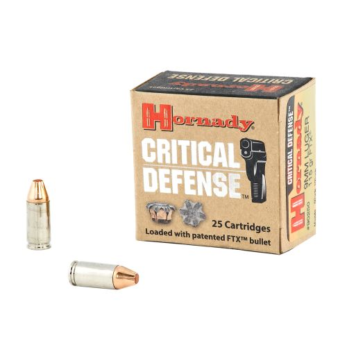 Hornady Critical Defense® 9 mm Luger 115-Grain Handgun Ammunition