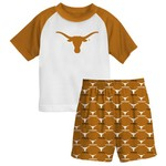 Genuine Stuff Toddler's University of Texas 2-Piece Sleeper Set