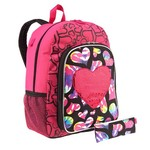 A. D. Sutton Girls' Glitter Love Peace Backpack