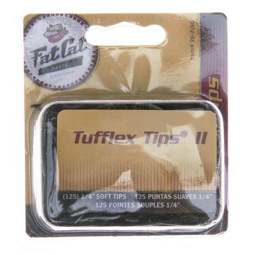 "FatCat 1/4"" Soft Tips 125-Pack"