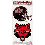 Stockdale Arkansas State University Thin Rim License Plate Frame with Decals