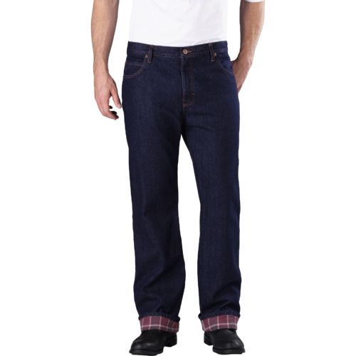 Dickies Men's Relaxed Fit Straight Leg Flannel Lined Jean