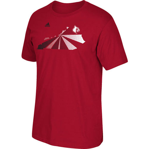 adidas™ Men's University of Louisville Big Dot Location T-shirt