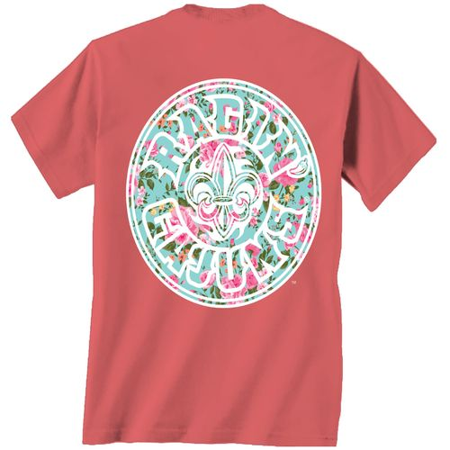 New World Graphics Women's University of Louisiana at Lafayette Floral T-shirt