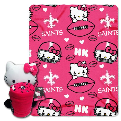 The Northwest Company New Orleans Saints Hello Kitty Hugger and Fleece Throw Set