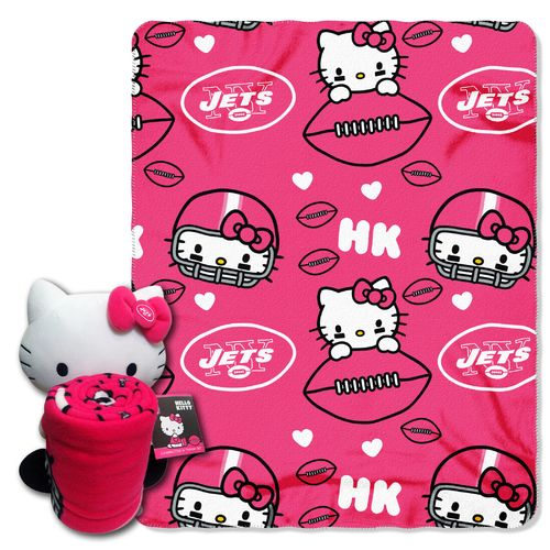 The Northwest Company New York Jets Hello Kitty Hugger and Fleece Throw Set
