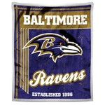 The Northwest Company Baltimore Ravens Old School Mink with Sherpa Throw