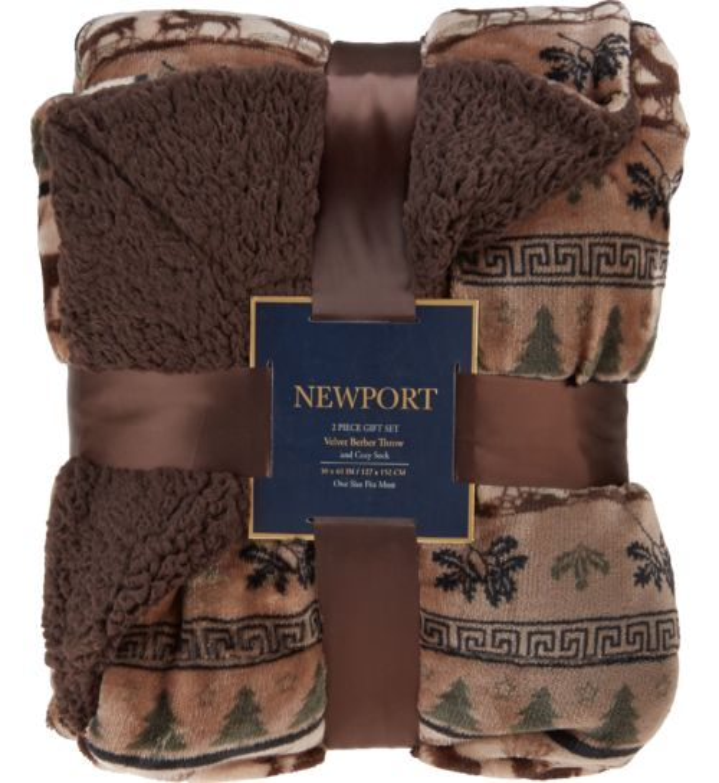 """Northpoint Trading Newport 50"""" x 60"""" Velvet Berber"""