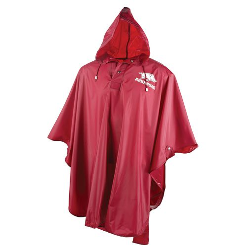 Storm Duds Adults' University of Arkansas Heavy-Duty Rain Poncho - view number 1