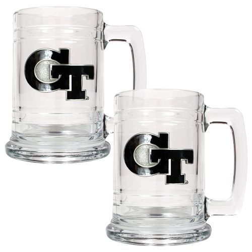 Great American Products Georgia Tech 15 oz. Glass Tankards 2-Pack