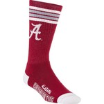 For Bare Feet Adults' University of Alabama 4-Stripe Deuce Socks