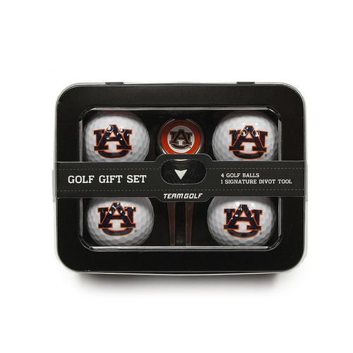 Team Golf Auburn University 4-Ball Tin Gift Set