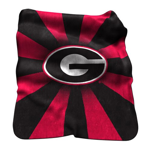 Logo University of Georgia Raschel Throw