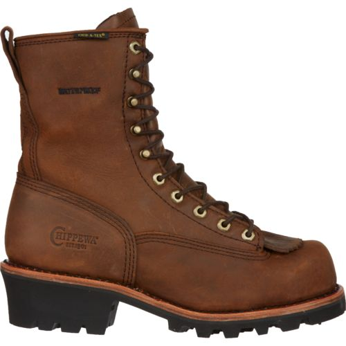 Chippewa Boots® Men's Bay Apache Waterproof Steel-Toe Logger Rugged Outdoor Boots