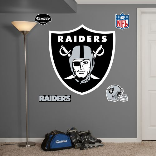 Fathead Oakland Raiders Real Big Team Logo Decal - view number 1