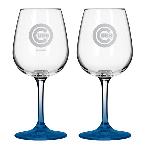 Boelter Brands Chicago Cubs 12 oz. Wine Glasses