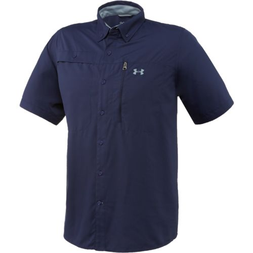 Under armour men 39 s short sleeve tide swing fishing shirt for Under armor fishing shirt